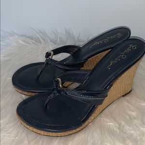 Lilly Pulitzer Navy Wedge Sandals 7M